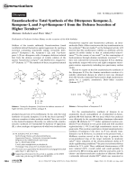 Enantioselective Total Synthesis of the Diterpenes Kempene-2  Kempene-1  and 3-epi-Kempene-1 from the Defense Secretion of Higher Termites.