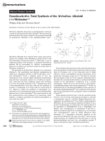 Enantioselective Total Synthesis of the Melodinus Alkaloid (+)-Meloscine.