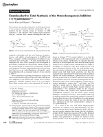 Enantioselective Total Synthesis of the Osteoclastogenesis Inhibitor (+)-Symbioimine.