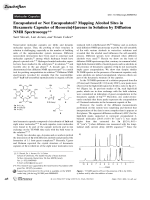 Encapsulated or Not Encapsulated Mapping Alcohol Sites in Hexameric Capsules of Resorcin[4]arenes in Solution by Diffusion NMR Spectroscopy.
