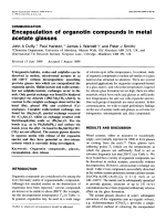 Encapsulation of organotin compounds in metal acetate glasses.