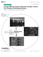 Energy-Efficient Syngas Production through Catalytic Oxy-Methane Reforming Reactions.