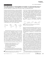 Enesulfonamides as Nucleophiles in Catalytic Asymmetric Reactions.