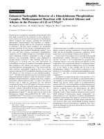Enhanced Nucleophilic Behavior of a Dimolybdenum Phosphinidene Complex  Multicomponent Reactions with Activated Alkenes and Alkynes in the Presence of CO or CNXyl.
