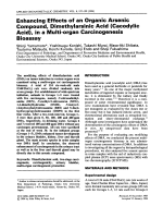 Enhancing effects of an organic arsenic compound  dimethylarsinic acid (cacodylic acid)  in a multi-organ carcinogenesis bioassay.