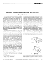 Epothilones  Promising Natural Products with Taxol-Like Activity.