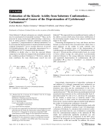 Estimation of the Kinetic Acidity from Substrate ConformationЧStereochemical Course of the Deprotonation of Cyclohexenyl Carbamates.