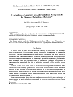 Evaluation of amines as antiradiation compounds in styrene butadiene rubber.