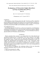Evaluation of ultraviolet light absorbers in polyvinylchloride (PVC). Part II