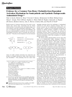 Evidence for a Common Non-Heme Chelatable-Iron-Dependent Activation Mechanism for Semisynthetic and Synthetic Endoperoxide Antimalarial Drugs.