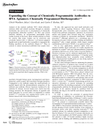 Expanding the Concept of Chemically Programmable Antibodies to RNA Aptamers  Chemically Programmed Biotherapeutics.