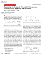 Expanding the Synthetic Potential of Asymmetric Deprotonation  Arylation of Carbanions.