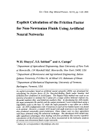 Explicit Calculation of the Friction Factor for Non-Newtonian Fluids Using Artificial Neural Networks.
