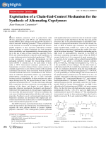 Exploitation of a Chain-End-Control Mechanism for the Synthesis of Alternating Copolymers.