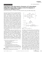 Exploitation of the Dual-emissive Properties of Cyclometalated Iridium(III)ЦPolypyridine Complexes in the Development of Luminescent Biological Probes.
