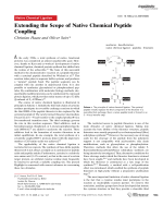 Extending the Scope of Native Chemical Peptide Coupling.
