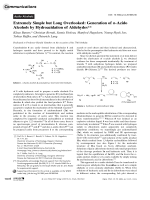 Extremely Simple but Long Overlooked  Generation of -Azido Alcohols by Hydroazidation of Aldehydes.