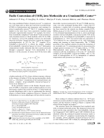 Facile Conversion of COH2 into Methoxide at a Uranium(III) Center.