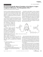 Fast Electrochemically Induced Translation of the Ring in a Copper-Complexed [2]Rotaxane  The Biisoquinoline Effect.