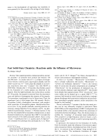 Fast Solid-State Chemistry  Reactions under the Influence of Microwaves.