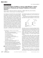 Ferrocenyl Quinone Methides as Strong Antiproliferative Agents  Formation by Metabolic and Chemical Oxidation of Ferrocenyl Phenols.