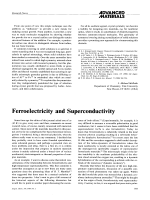 Ferroelectricity and Superconductivity.