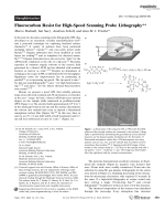 Fluorocarbon Resist for High-Speed Scanning Probe Lithography.