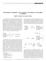 Fluorotitanium CompoundsЧNovel Catalysts for the Addition of Nucleophiles to Aldehydes.