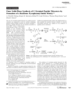 Fmoc Solid-Phase Synthesis of C-Terminal Peptide Thioesters by Formation of a Backbone Pyroglutamyl Imide Moiety.