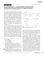 Formal Synthesis of ()-Aphanorphine Using Sequential Photomediated Radical Reactions of Dithiocarbamates.