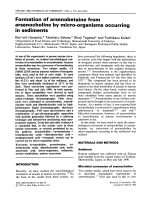 Formation of arsenobetaine from arsenocholine by micro-organisms occurring in sediments.