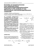Formation of arynezirconocenes from substituted diaryl bis (t-butylcyclopentadienyl) zirconium  application to the synthesis of new functionalized ortho-dichalcogenobenzene compounds.