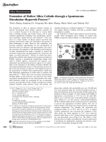 Formation of Hollow Silica Colloids through a Spontaneous DissolutionЦRegrowth Process.
