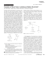 Formation of Mixed-Valent Aryltellurenyl Halides RX2TeTeR.