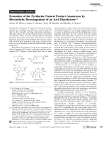 Formation of the Pyridazine Natural Product Azamerone by Biosynthetic Rearrangement of an Aryl Diazoketone.
