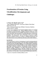 Fractionation of Proteins Using Ultrafiltration  Developments and Challenges.