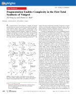 Fragmentation Enables Complexity in the First Total Synthesis of Vinigrol.