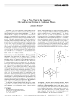 Free or Not  That Is the Question  Silyl and Germyl Cations in Condensed Phases.