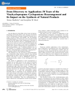 From Discovery to Application  50Years of the VinylcyclopropaneЦCyclopentene Rearrangement and Its Impact on the Synthesis of Natural Products.