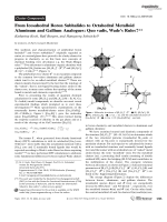 From Icosahedral Boron Subhalides to Octahedral Metalloid Aluminum and Gallium Analogues  Quo vadis  Wade's Rules.