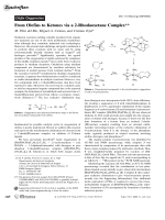 From Olefins to Ketones via a 2-Rhodaoxetane Complex.