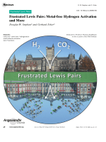 Frustrated Lewis Pairs  Metal-free Hydrogen Activation and More.