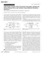 Full Chirality Transfer in the Conversion of Secondary Alcohols into Tertiary Boronic Esters and Alcohols Using LithiationЦBorylation Reactions.
