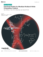Functional Models for Rhodium-Mediated Olefin-Oxygenation Catalysis.