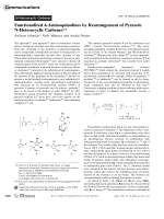 Functionalized 4-Aminoquinolines by Rearrangement of Pyrazole N-Heterocyclic Carbenes.