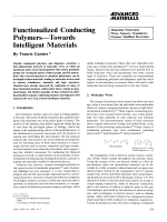 Functionalized Conducting PolymersЧTowards Intelligent Materials.