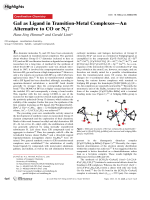 GaI as Ligand in Transition-Metal ComplexesЧAn Alternative to CO or N2.