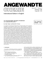 Gas Chromatographic Separation of Enantiomers on Cyclodextrin Derivatives.