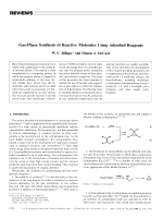 Gas-Phase Synthesis of Reactive Molecules Using Adsorbed Reagents.