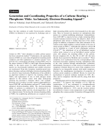 Generation and Coordinating Properties of a Carbene Bearing a Phosphorus Ylide  An Intensely Electron-Donating Ligand.